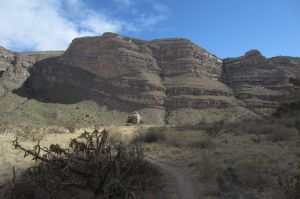 13 view of Eyebrow in upper Dog Canyon