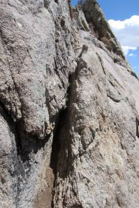 16 crux crack, looking in