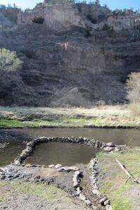 hot spring near the trailhead