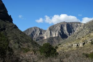 View from lower McKittrick Canyon into GMNP