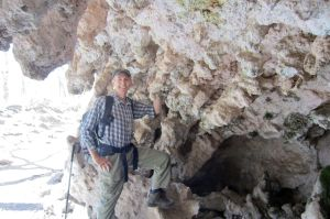 16 me in McKittrick Canyon grotto (inside shot)