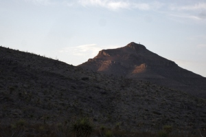2013-06-15 Bishops Cap 009 morning sunlight on peak (better)