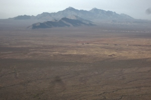 View south towards Franklin Mountains
