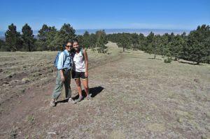 Celia and Jane in subalpine terrain