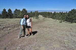 Celia and Jane in subalpine terrain