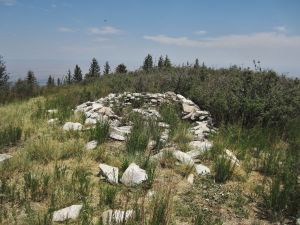 """Summit """"ring within a ring"""" stone structure"""
