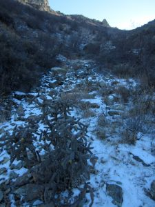 14 snow and talus on descent