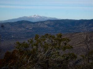Sierra Blanca from the summit of Ortega Peak