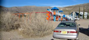 The mighty Camry at Alamogordo playground park (and Marble Canyon trailhead)