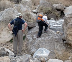 Boulder hopping in main Marble Canyon drainage
