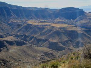 View to Roundup Mesa and Alamogordo Canyon from Mesa Rib on Hershberger Peak