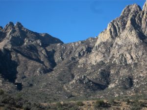Lower Needles (left) Windy Gap (middle) and Rabbit Ear spires (right)