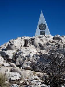 Summit Marker on Guadalupe Peak