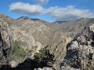 View into northern Guadalupe Mountains from the long, northerly switchback