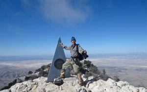 Author on Guadalupe Peak