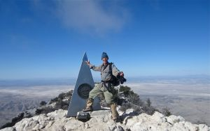 Author on Guadalupe Peak