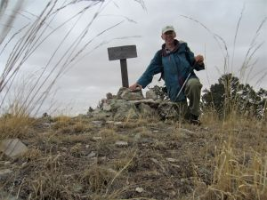 Author on Carrizo summit