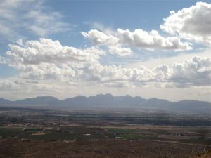 Summit view across Mesilla Valley to the Organ Mountains