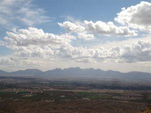 Summit view across Mesilla Valley to the Organ Mountains