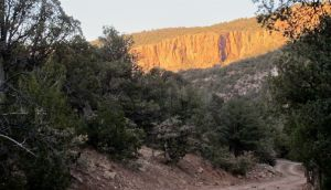 Evening light on a scarp, possibly from magdalena fault thrust