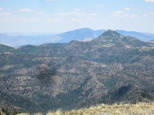 Nogal Peak (middle ground) and Carrizo Peak (horizon)