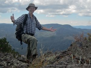Author on summit, Jemez Mountains in background