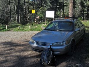 00 Camry at trailhead