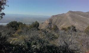 View of Timber Peak from Brushy Mountain summit.