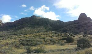 The lower end of Shark Tooth's rocky ridgeline.