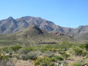 View of the southern Franklin Mountains.