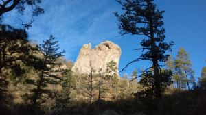 A rock fin near to the point where Gallinas Canyon joins Railroad Canyon.