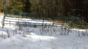 Corral on shelving terrain near the Black Range crest