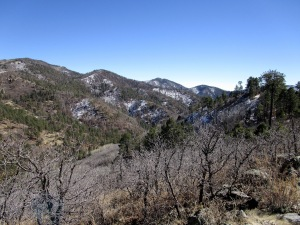 View from Crest into West Railroad Canyon