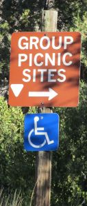 Sign on Aguirre Springs Road for the Group Campground
