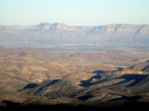 Evening view from NM-152 from Emory Pass to Caballo Range