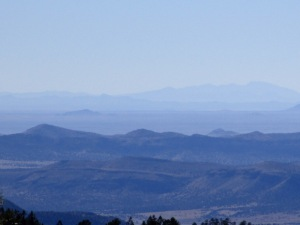 View west into the Gila National Forest