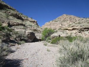 Approaching the mouth of the Slot Canyon.
