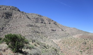 Wide open terrain on the flanks of Robledo Peak, as seen from the knoll.