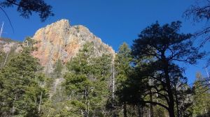 View to South Gatepost from the bottom of Rock Springs Canyon