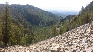 Boulder field on Vick's Peak, looking toward