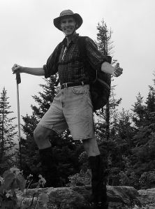 Author on Baker Peak, via Lake Trail, in the Green Mountains of Vermont