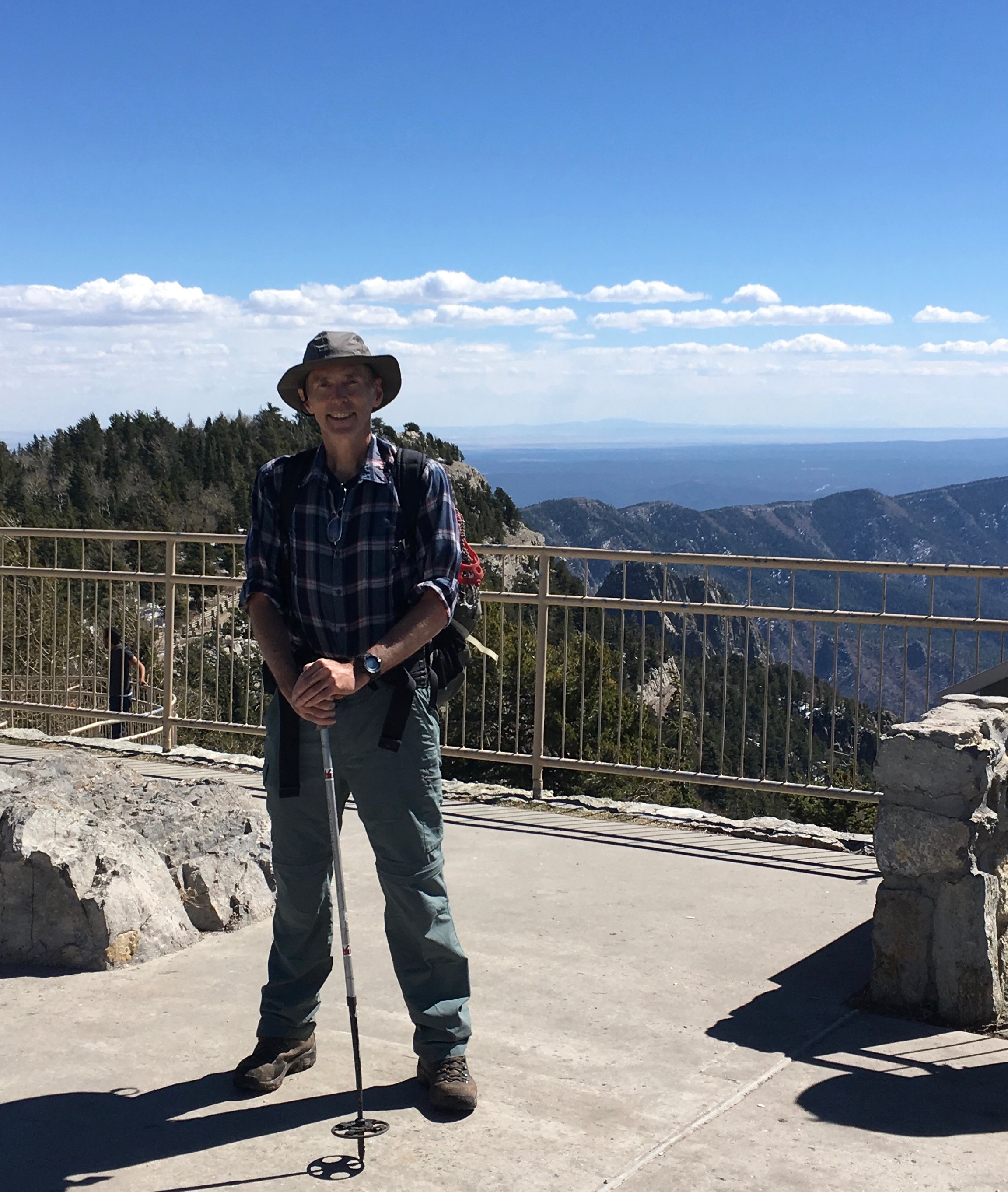 21 Author, summit, Sandia Crest