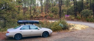 03 the Mighty Camry at the trailhead