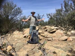11 Author and Mountain Mahogany on Burro Pk