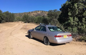 02 The Mighty Camry at Jack's Pk trailhead