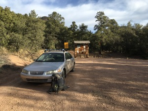 02 the Mighty Camry at Dry Creek Trailhead