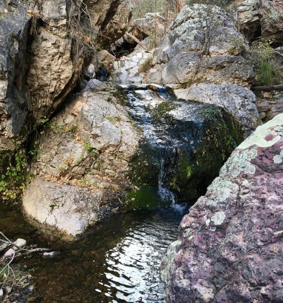 05 waterfall across a hard intrusion