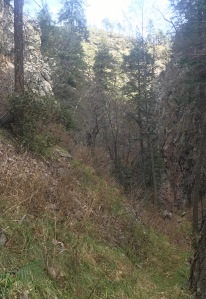 07 pinched trailbed below main wall