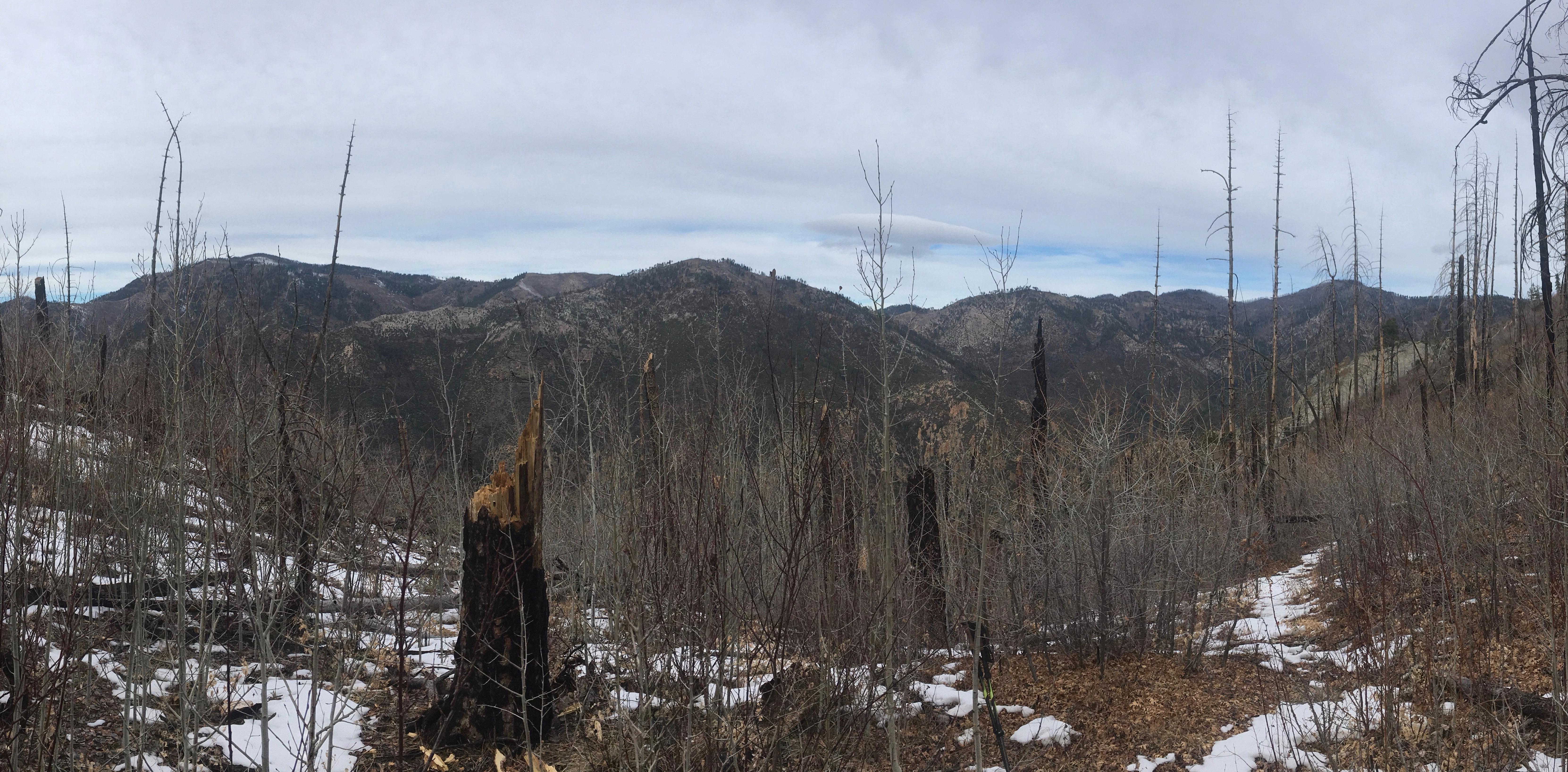 12 Windy Gap looking over Big Dry Creek